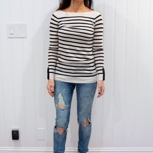 Classic striped sweater from LOFT
